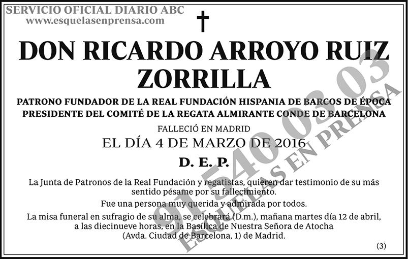 Ricardo Arroyo Ruiz Zorrilla